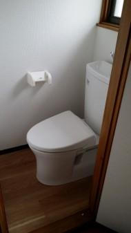 トイレ設置完成