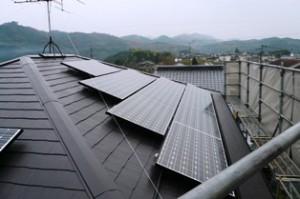 太陽光発電設置完成1