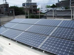太陽光発電設置完成