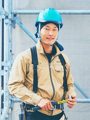 新築事業部 足場工事 髙山 幸志郎(こうやま こうしろう)