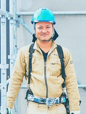 新築事業部 足場工事 森川 義信(もりかわ よしのぶ)