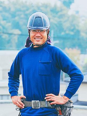 太陽光発電事業部 屋根工事 錦野 正宏(にしきの まさひろ)