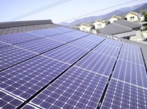 太陽光パネル設置完成1
